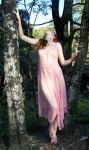 Pink Fairy Girl In Forest 09 by Gracies-Stock