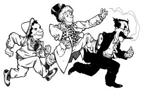 Marx Brothers Cartoon by Draganski