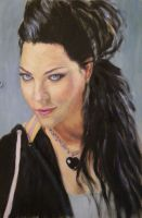 Amy Lee painting by Coquelicotnoir