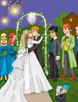 Ron and Hermione's wedding by evolra