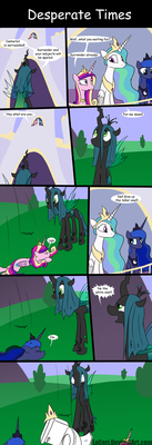 MLP Desperate Times by LoCeri