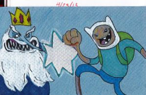 Finn vs Ice King by jEROMEaNIMATIONS