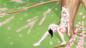 Cassie Amaterasu Wall by AphexAngel