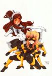 London and Maddie as Mecha Maid and Spinnerette by SonicPossible00