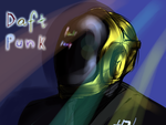 Daft Punk with Disco Lights by Katrona