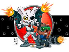 Lil DM and Penfold by lordmesa