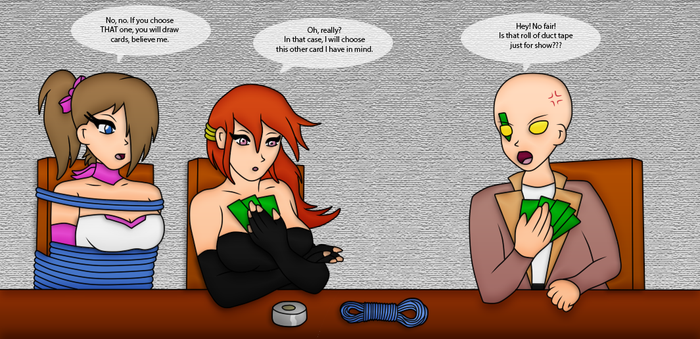 A Not So Quiet And Fair Card Game by maidenseeker