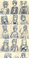 [PC/Extra] 100 Points: Ink Doodles Batch 1 - 6 by Akeita