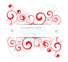 Vector Floral Banner Design by 123freevectors