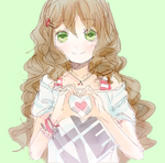 Curly haired anime girl by h20pologirl33