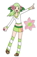 Grass gym leader Rosalie by Cerulebell