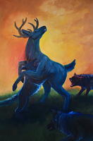 Ambush in Oils - Panel 1 of 3 by Alithographica
