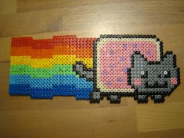 Nyan Cat in Hama Beads by Nidoran4886