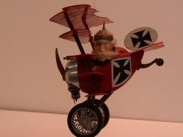 Five Winged Red Baron by gberzzerk