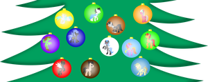 The most shiny baubles on my Christmas Tree by BlueYoukai