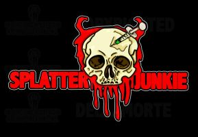 Splatter Junkie logo final copy by deadheadhorror