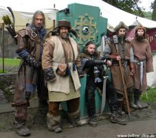Kili, Bofur, Thorin, Nori and Ori by Lady--Eowyn