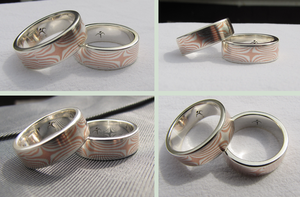 Mokume Gane Rings by WMVmetalsmithing