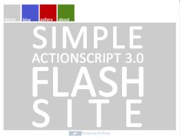 Simple AS3.0 Flashsite by LarsEliasNielsen