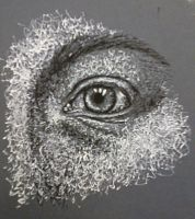 Scribbled Eye, Pen and Ink by Falendea