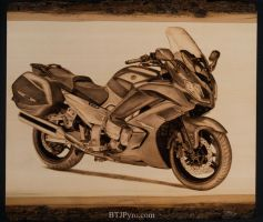 2014 Yamaha FJR 1300 - Handcrafted Woodburning by brandojones