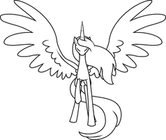 Free Alicorn Lineart by The-Clockwork-Crow