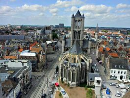 Ghent city birdsview 3 by BlokkStox