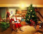 Santa on vacation by Nafrin
