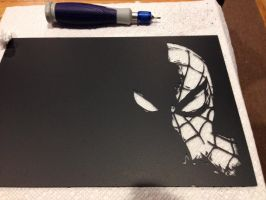 Spider-Man scratch art... by Threedayslong