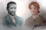 TWD : Lee and Luke (minor spoilers in text) by MellorianJ