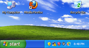 Windows XP-- Tiny Resolution by voyager9600