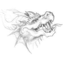 Dragon head sketch by RtotheYO