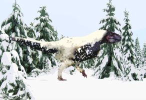 Tyrannosaur in the Woods by PhilipEdwin
