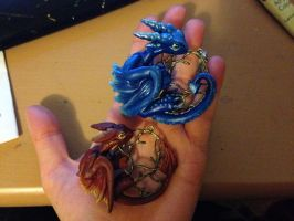 Tree Dragon Pendants by LittleDragonDesigns