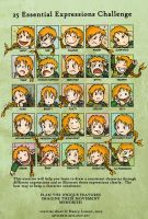 25 Expressions Meme by Isriana