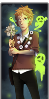 Halloween - green ghost by Kerl-hau