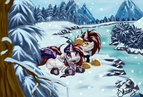 Snow Just For 2 by Sketchy-The-Pony