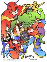 Classic Avengers by AndrePaploo