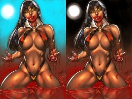 Vampirella By edbenes colored by darkeyez07
