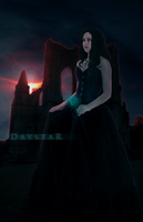 Of ruins and red nightfall by Daystar-Art