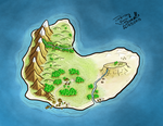 Island Artistic Map by osereterno