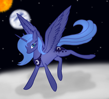 Princess Luna ~ Lost On The MOon by XxXstarwatcherXxX
