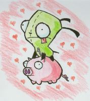Gir and Pig-Happy Feb. Holiday by ComeSailAway