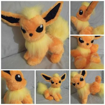 Custom plush Pokemon Flareon by angelberries