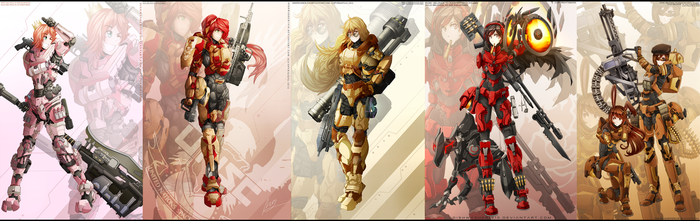 Halo x RWBY : Wave 1- completed by dishwasher1910