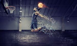 Lebron James Shattered dunking wallpaper by olieng