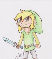 toon link paper drawin by dreamer-the-wolf-3
