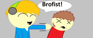 Pewdiepie (Bully) - Brofist! by Dragonsong3