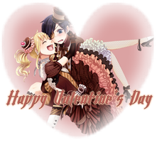 CielxLizzy Happy Valentine's Day by Vexic929