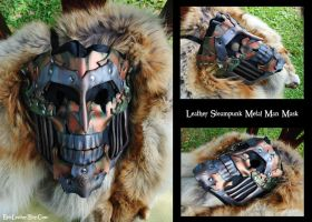 Leather Steampunk Metal Man Mask by Epic-Leather